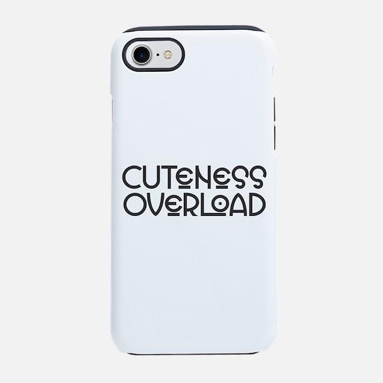 Cuteness Overload - Black iPhone 7 Tough Case