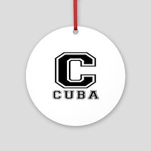 Cuba Designs Ornament (Round)