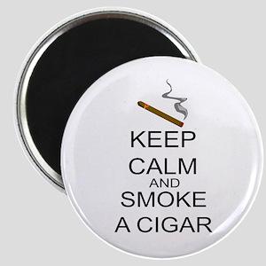 Keep Calm And Smoke A Cigar Magnet