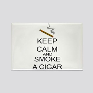 Keep Calm And Smoke A Cigar Rectangle Magnet