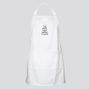 Keep Calm And Smoke A Cigar Apron