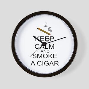 Keep Calm And Smoke A Cigar Wall Clock