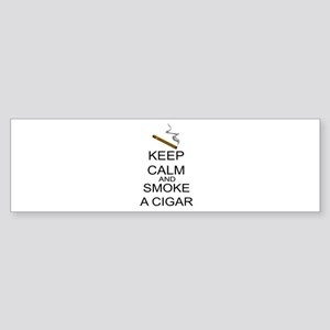 Keep Calm And Smoke A Cigar Sticker (Bumper)