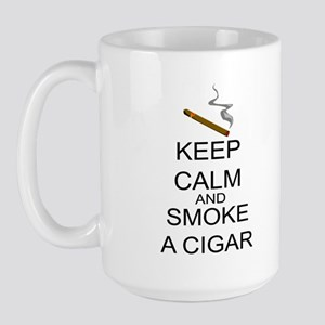 Keep Calm And Smoke A Cigar Large Mug