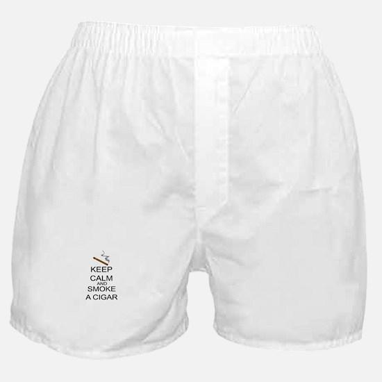 Keep Calm And Smoke A Cigar Boxer Shorts