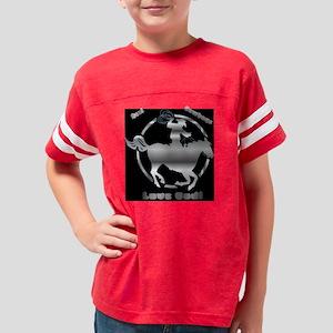 cowboy on horse Youth Football Shirt