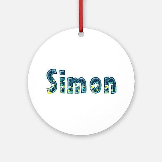 Simon Under Sea Round Ornament