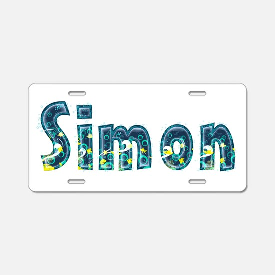 Simon Under Sea Aluminum License Plate