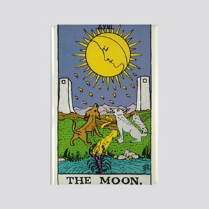 THE MOON TAROT CARD Rectangle Magnet