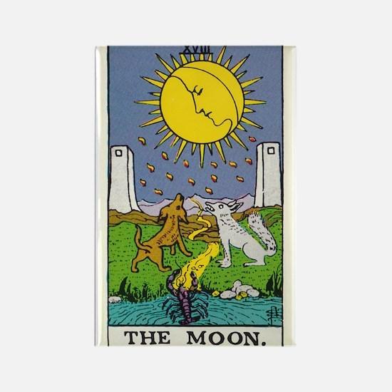 THE MOON TAROT CARD Rectangle Magnet