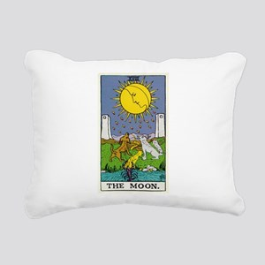 THE MOON TAROT CARD Rectangular Canvas Pillow