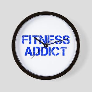fitness-addict-CAP-BLUE Wall Clock