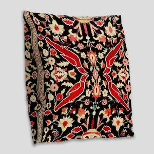 Antique Persian Rug Animals Floral Burlap Throw Pi
