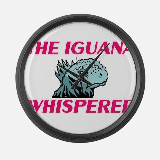 The Iguana Whisperer Large Wall Clock