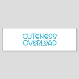 Cuteness Overload - Blue Bumper Sticker
