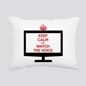 Keep Calm and Watch The Voice Rectangular Canvas P