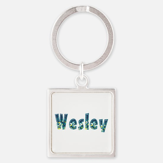 Wesley Under Sea Square Keychain