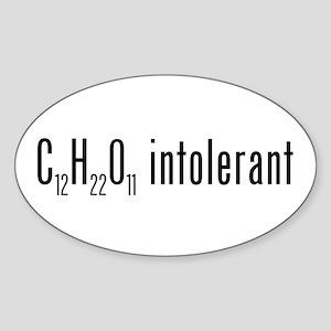 Lactose Intolerant Oval Sticker