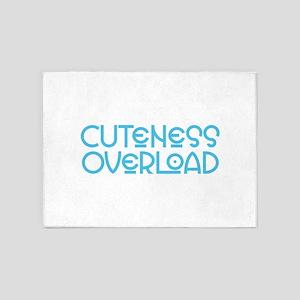 Cuteness Overload - Blue 5'x7'Area Rug