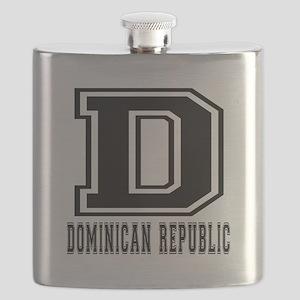 Dominican Republic Designs Flask