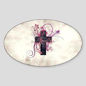 Cross of Grace Sticker (Oval)