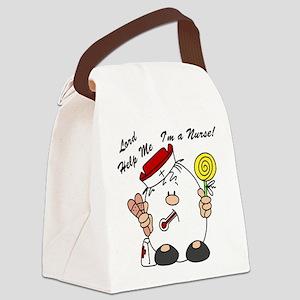 Lord Help Me I'm a Nurse Canvas Lunch Bag