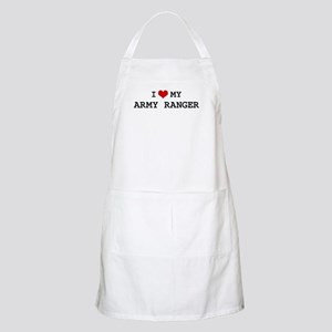 I Love My Army Ranger BBQ Apron