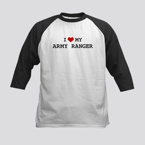 I Love My Army Ranger Kids Baseball Jersey
