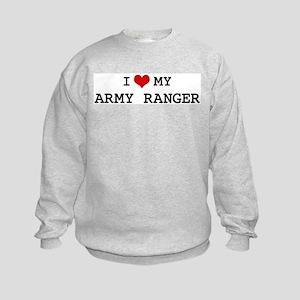 I Love My Army Ranger Kids Sweatshirt