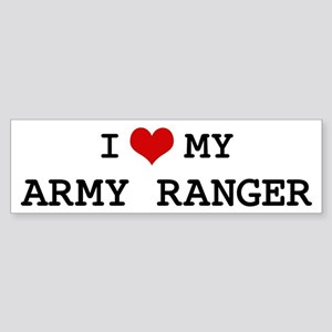 I Love My Army Ranger Bumper Sticker