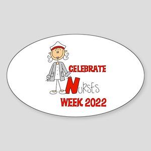 Celebrate Nurses Week 2016 Sticker (Oval)