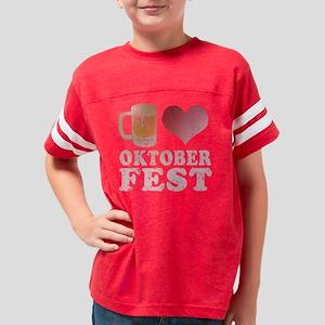 I Beer Oktoberfest Youth Football Shirt