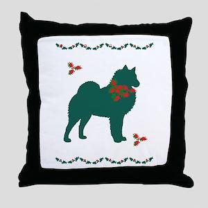 Christmas Spitz Throw Pillow