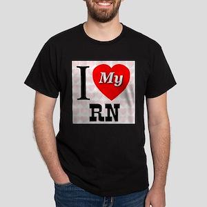 I Love My RN Dark T-Shirt