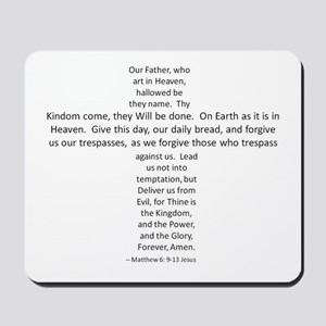 Love the Lord? Wear the Prayer! Mousepad
