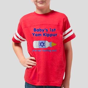 Babys 1st Yom Kippur Bottle Youth Football Shirt