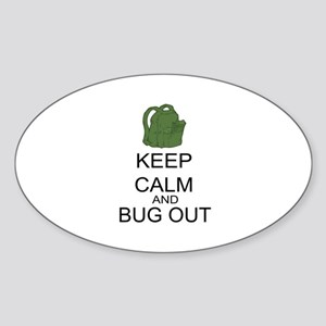 Keep Calm And Bug Out Sticker (Oval)