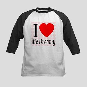 I Love Mc Dreamy Kids Baseball Jersey