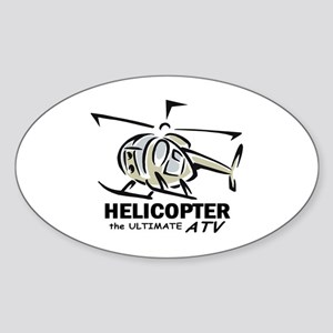 Ultimate ATV graphic Oval Sticker