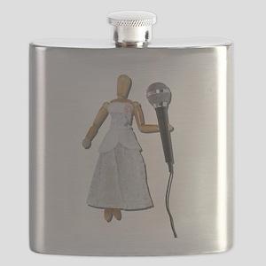 WomanUsingAudioMicrophone081311 Flask