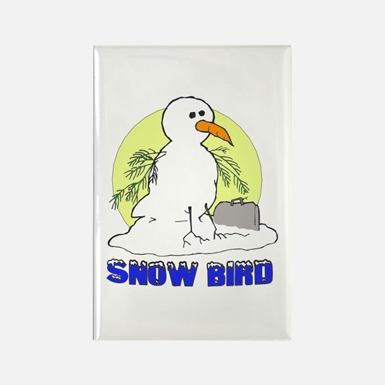 Snowbird Vacation Cartoon Rectangle Magnet