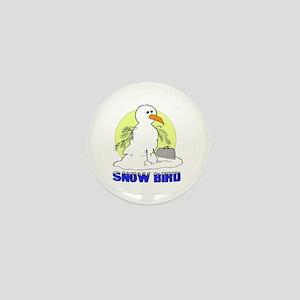 Snowbird Vacation Cartoon Mini Button