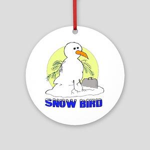 Snowbird Vacation Cartoon Ornament (Round)