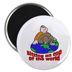On Top of the World Cartoon Magnet