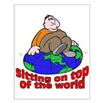 On Top of the World Cartoon Small Poster