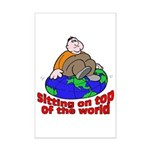 On Top of the World Cartoon Mini Poster Print