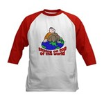 On Top of the World Cartoon (Front) Kids Baseball