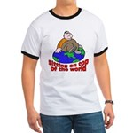 On Top of the World Cartoon (Front) Ringer T