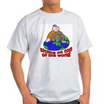 On Top of the World Cartoon (Front) Ash Grey T-Shi