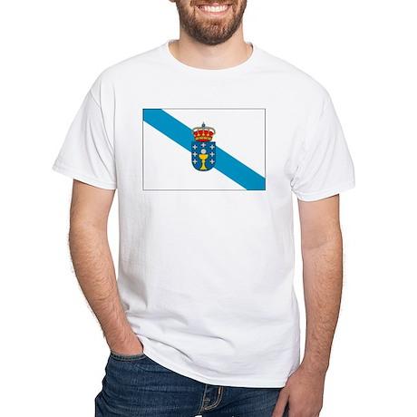 Galicia Flag White T-Shirt